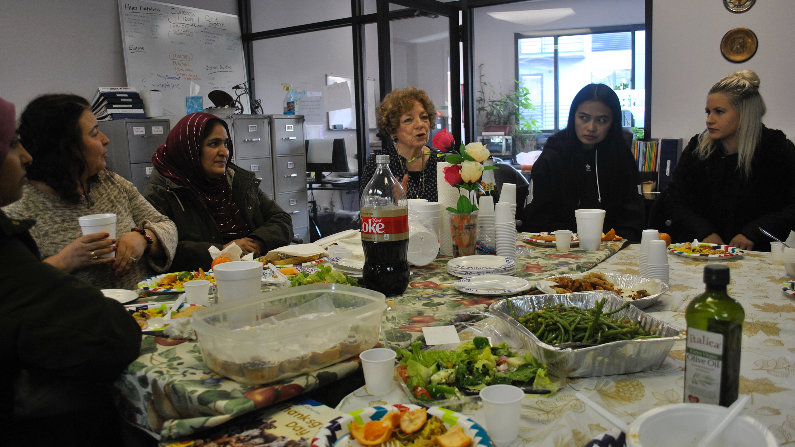 Emira Habiby Browne and students