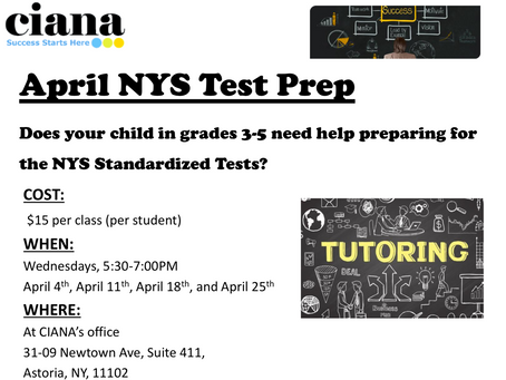 Extra Tutoring Day in April for Grades 3-5!