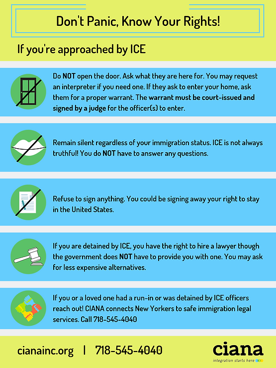 What to do if you see ICE