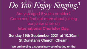 Do You Enjoy Singing?  St Dunstan's Choir would love to hear from you...
