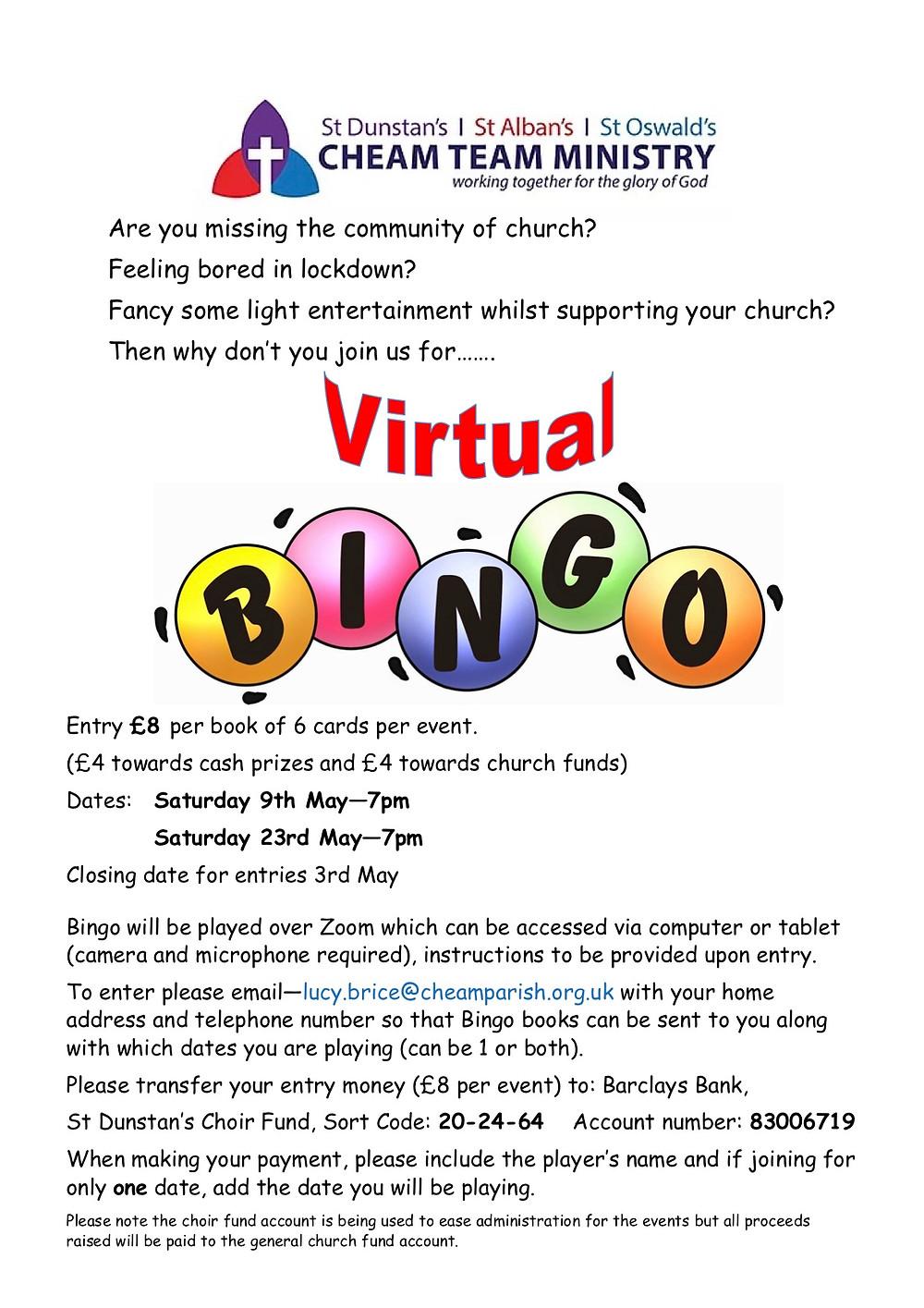 Bingo via zoom uk