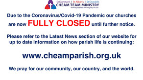 ALL CHURCH BUILDINGS NOW FULLY CLOSED