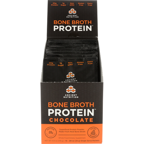 Ancient Nutrition Chocolate Bone Broth Single Packet