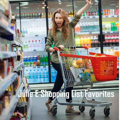 Healthy Snacks Shopping list