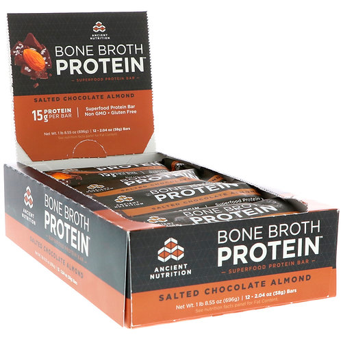Ancient Nutrition Salted Chocolate Almond Protein Bar
