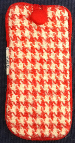 Harris Tweed Glasses Case Red&White