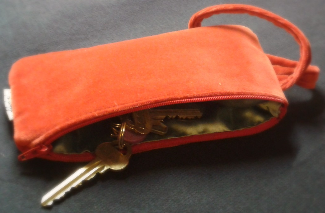 Cotton Velvet evening bag Coral