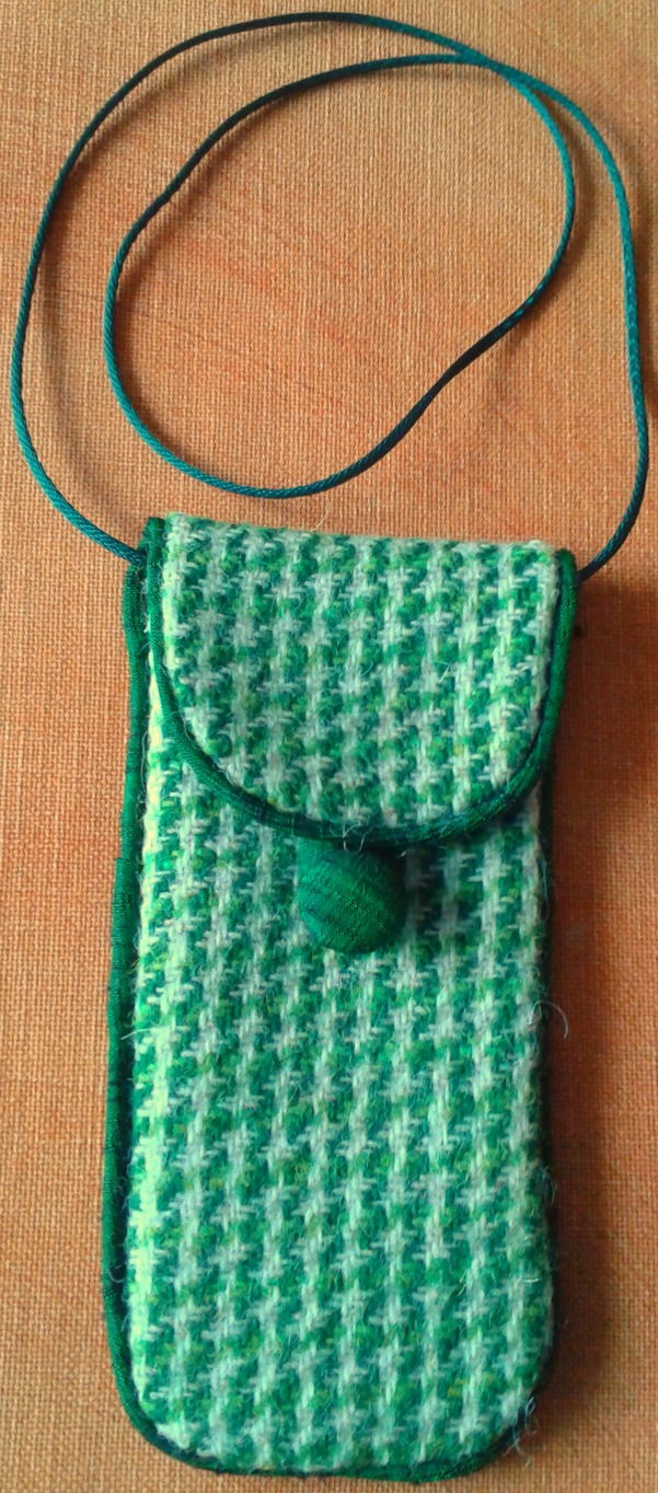 Harris Tweed Glasses Case Green