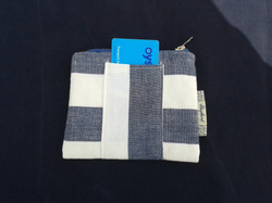 Cotton going out purse Blue/White