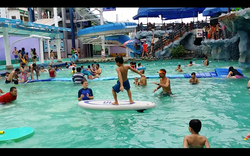 Sara and Jack teach the orphans how to surf action sequence 8