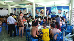 lunch after pool surfing