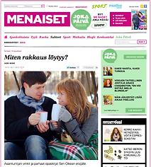 """Me Naiset -sivusto 26.11.12 """"Miten rakkaus löytyy?"""""""