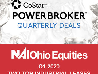 NAI Ohio Equities' Industrial Property Team Recognized by CoStar for Top Industrial Leases