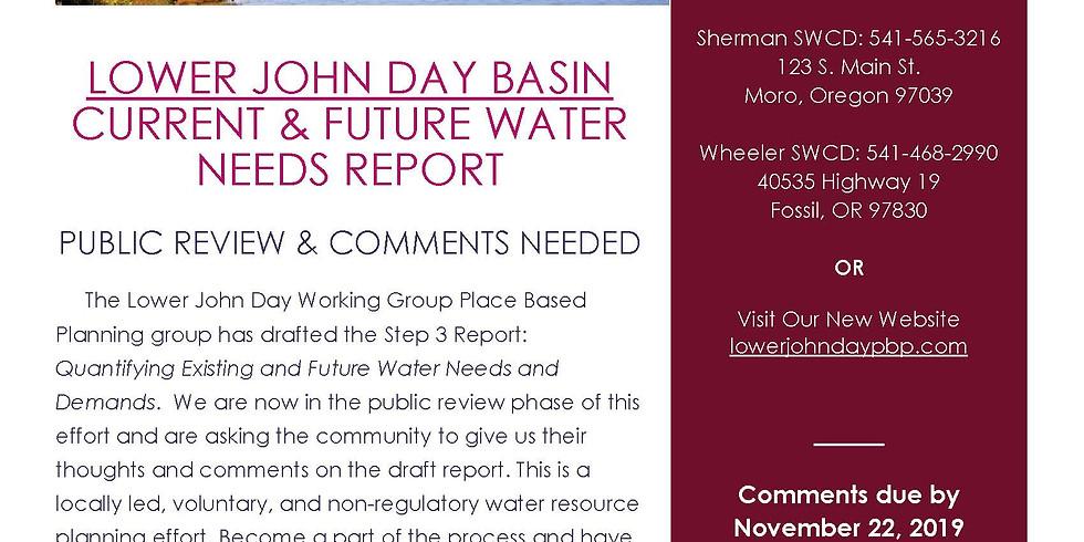 Step 3 Report Public Comments Due