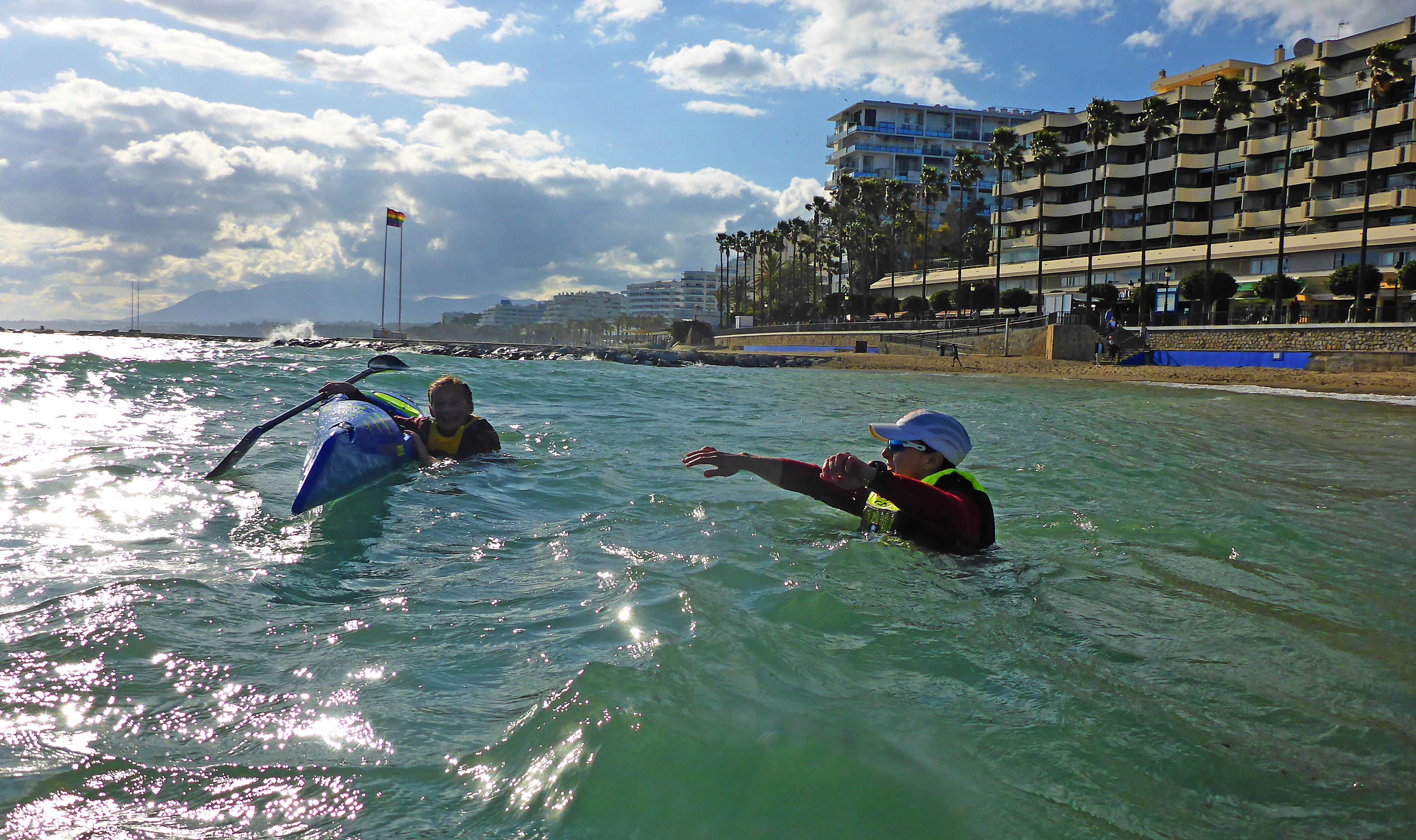 Marbella Surfski Charlotta Karen P1050972