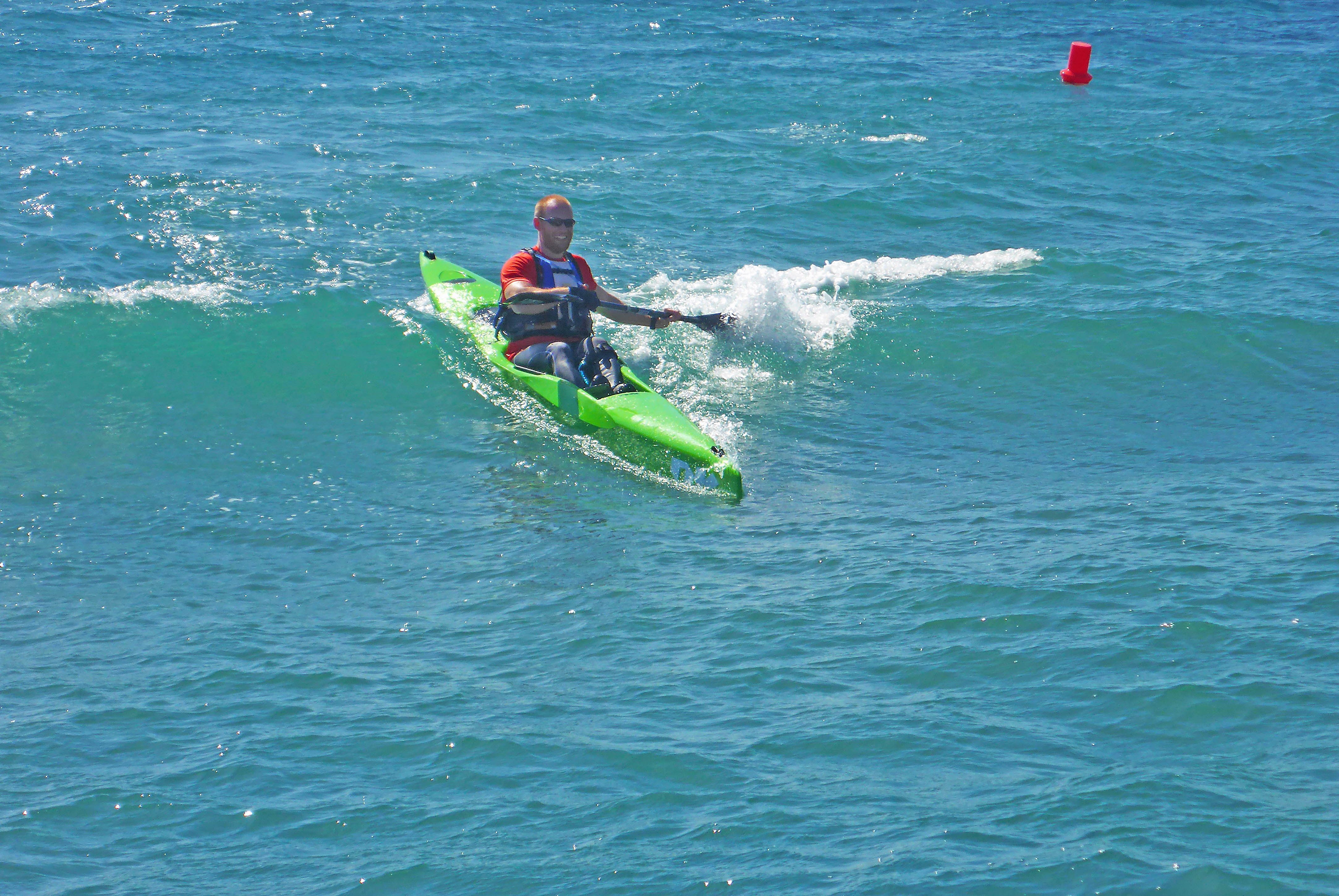 Marbella Surfski Fredrik iskall killen P1060028