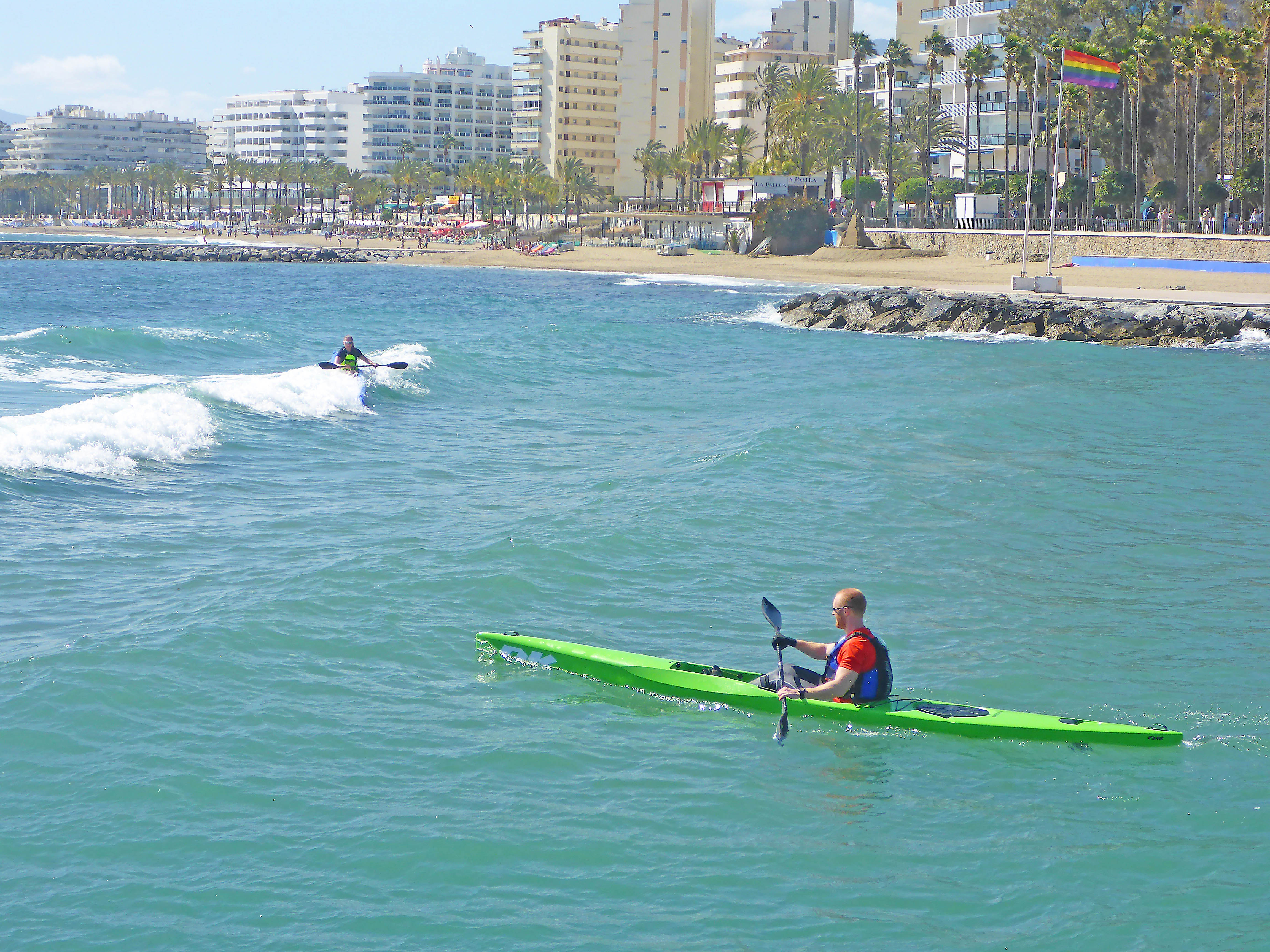 Marbella Surfski Fredrik Elsa P1050993