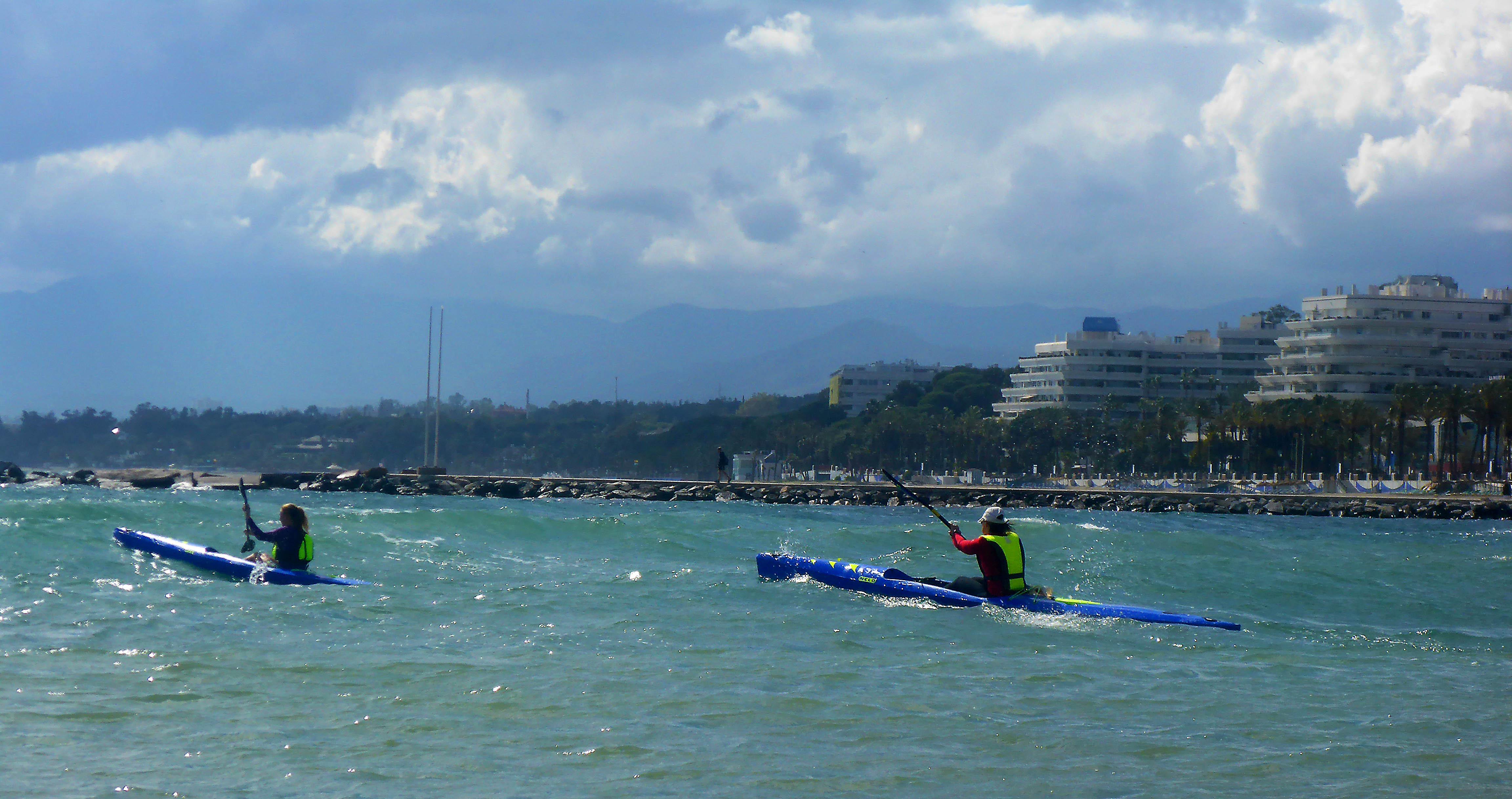 Marbella Surfski Karen the chase is on P1050954
