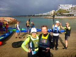 Marbella Surfski Karen Charlota Hans et al P1050950
