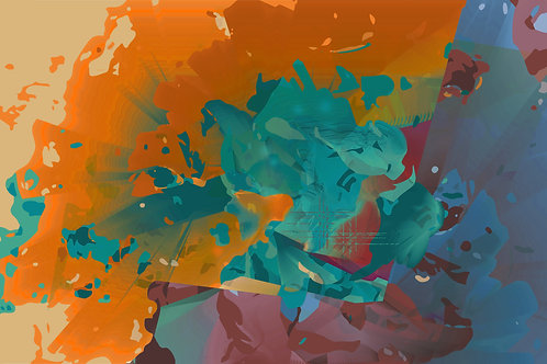 Anemone Abstract Print