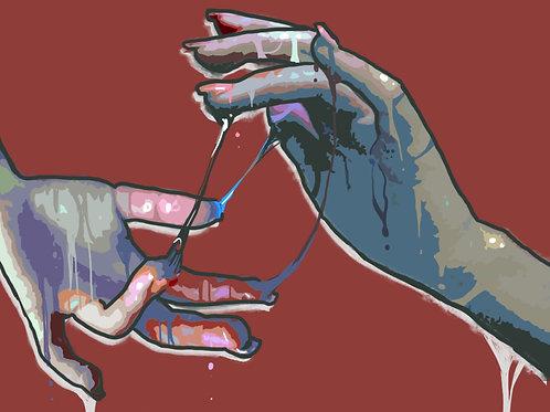 Sticky Hands Print