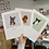 Thumbnail: Personalised Pet Portrait with borders
