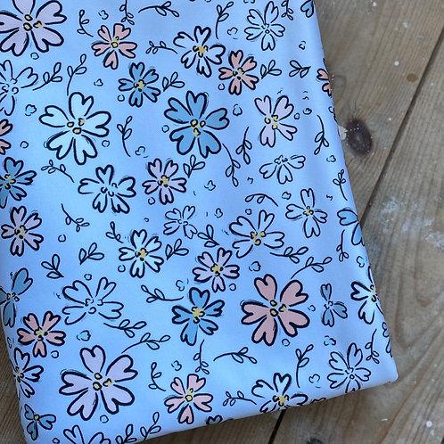 Grey Floral Water Resistant Blanket