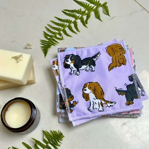 Lilac Cavalier Reusable Wipes