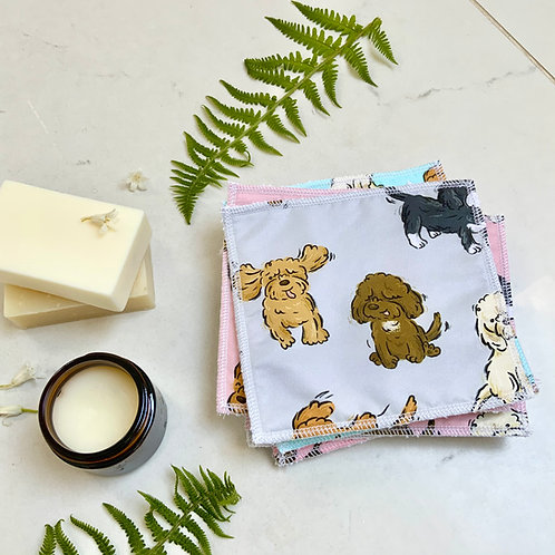 Grey Poos and Doodles Reusable Wipes