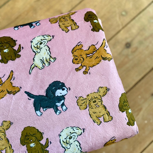 Plush Pink Poos and Doodles Blanket