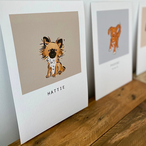 Personalised Pet Portrait with borders