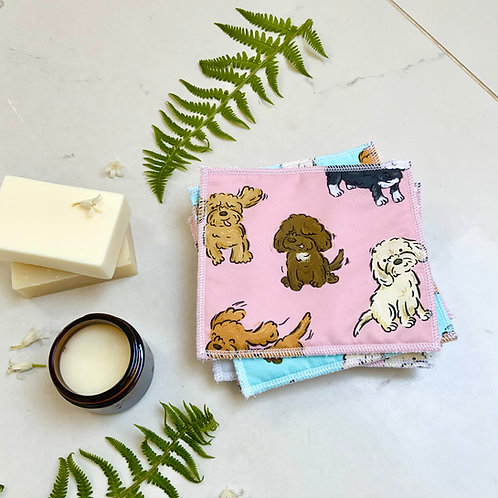 Blush Poos and Doodles Reusable Wipes