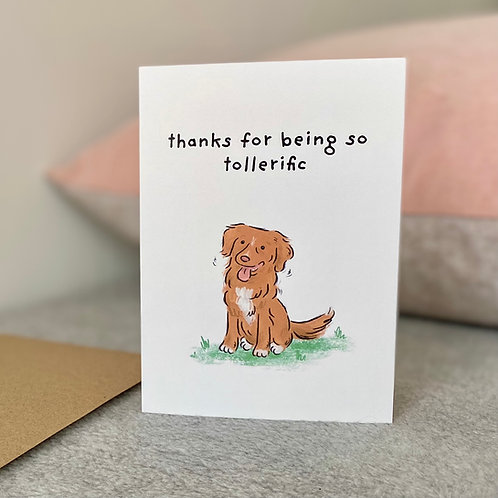 Thanks for Being Tollerific Card