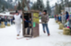 Conconully Outhouse Races in Conconully, WA