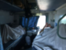 The train to Agra in India