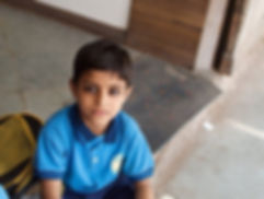 A young schoolboy in Jaipur