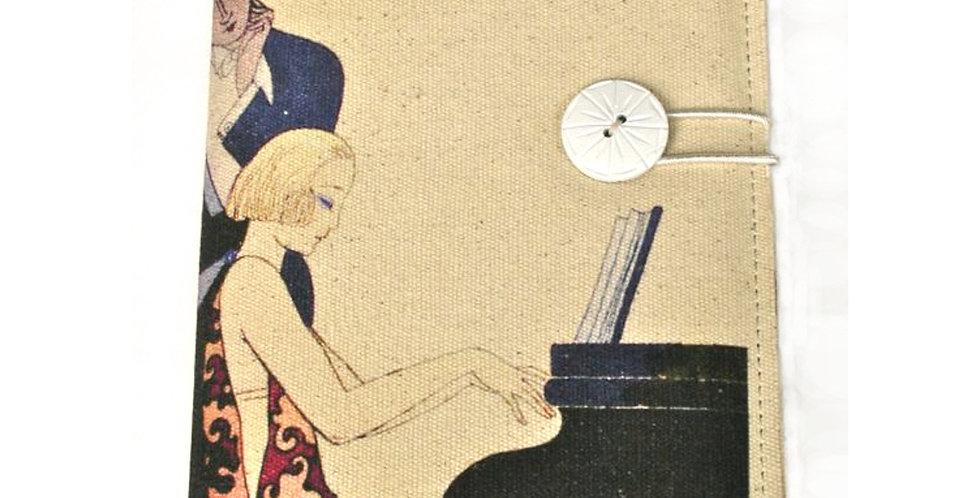 Art Deco Piano Girl Journal SK28