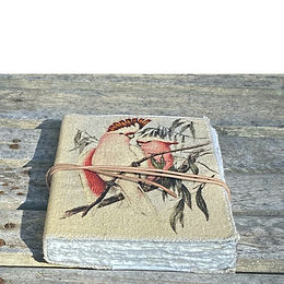 Handmade artisan Australian cockatoo journal by NERO