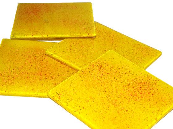 Yellow Burst Coasters
