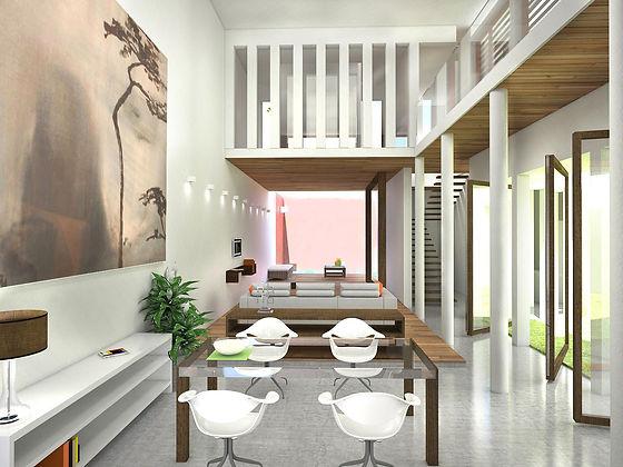 Architecte Lorient maison bioclimatique bois  patio dauvillier