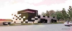 Interlude Architecture, rénovation, construction, local commercial, salle de sport,équipement, local artisanal, bardage métallique,bbc,rt2012,charpente métallique,métal,Lanester,Lorient,Kervignac,Ploemeur,Morbihan,Finistère,Raphael Dauvillier Architecte