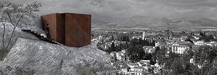 Interlude Architecture - Architecture et paysage , élément installé en montagne -point de vue et lieu de méditation -Raphaël Dauvillier Architecte