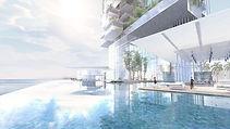 Interlude Architecture Green  Tour résidence luxe à Dubaï, concours 2nd lauréat - Raphael Dauvillier Architecte
