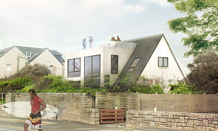 interlude architecture extension d 39 une maison ploemeur fort bloqu. Black Bedroom Furniture Sets. Home Design Ideas