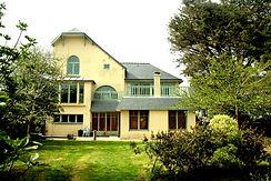 Extension bois enduit blanc, grand espace design, vue mer,lorient,guidel,Ploemeur, morbihan,vannes,interlude architecture,raphaël dauvillier, architecte