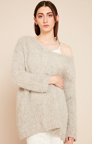 Jersey WILALAND WILA260H19 GRIS CHINE American Vintage