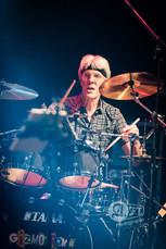 Stewart Copeland during Gizmodrome show at Orchard Hall Tokyo