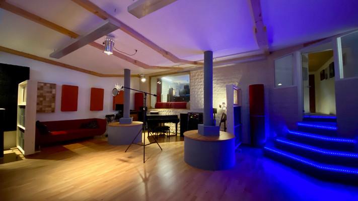Recording room nighttime