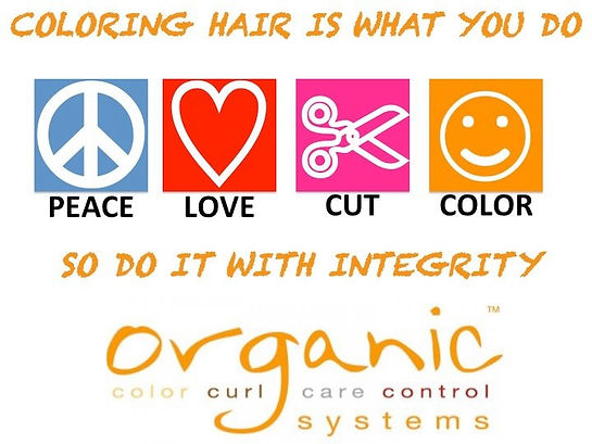Coloring hair is what you do, so do it with integrity! Peace. Love. Cut. Color.