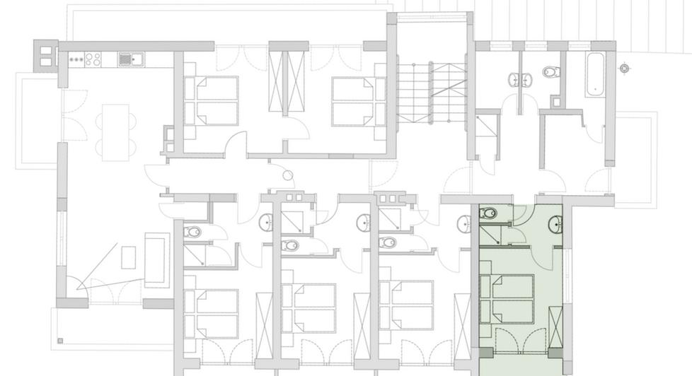 2. Stock Zimmer inkl Balkon